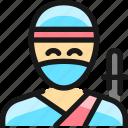 man, ninja, crime