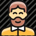 beard, man, people
