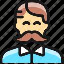 moustache, man, people