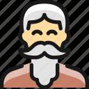 man, people, moustache