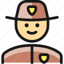 man, police