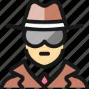 spy, man, police