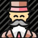 man, moustache, vintage