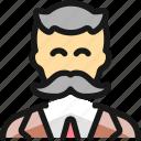 vintage, moustache, man