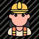 construction, construction worker, job, profession, woman, worker