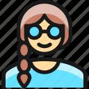 glasses, people, woman