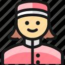 professions, woman, bellboy