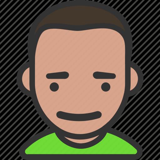 avatar, male, short hair, smiling icon