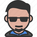 avatar, beard, male, sunglasses icon