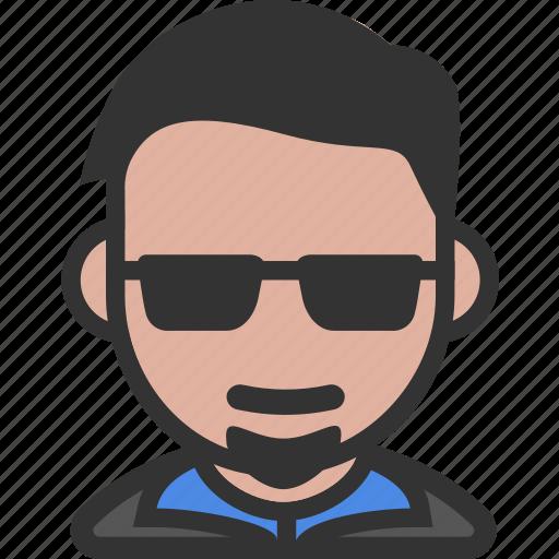 avatar, beard, male, sunglasses icon