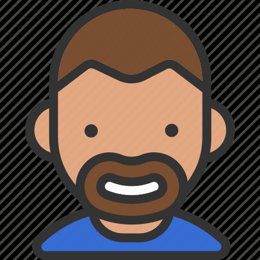 avatar, beard, male icon