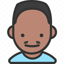 avatar, flat top, male, mustache icon