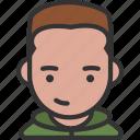 avatar, hoodie, male, smirk
