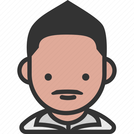 avatar, faux hawk, male, mustache icon