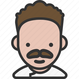 avatar, chef, male, mustache icon
