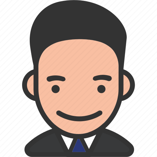 avatar, male, smiling, suite, tie icon