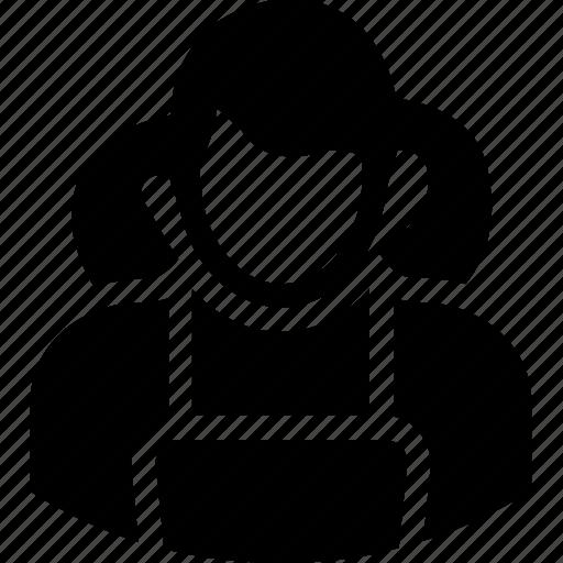 avatar, girl, school girl, student, teenager icon
