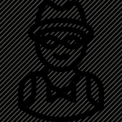 anonymous, avatar, detective, man, spy icon