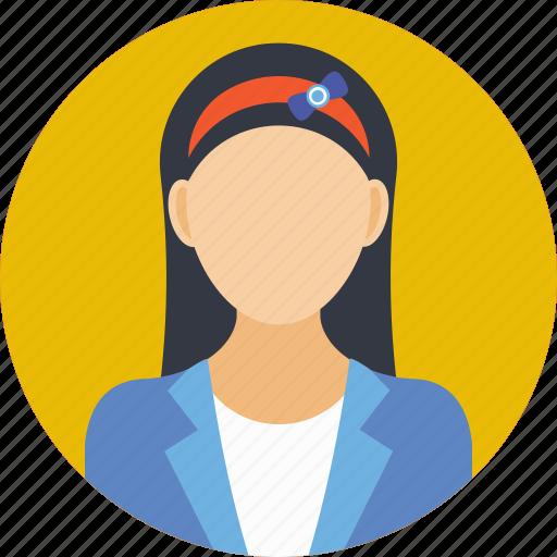 school girl, school uniform, student, study time, young girl icon