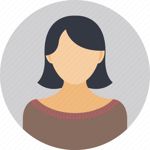 sales representative, salesperson, support person, user, working woman icon