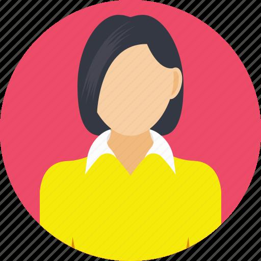 female ceo, female worker, lady executive, lady manager, supervisor icon