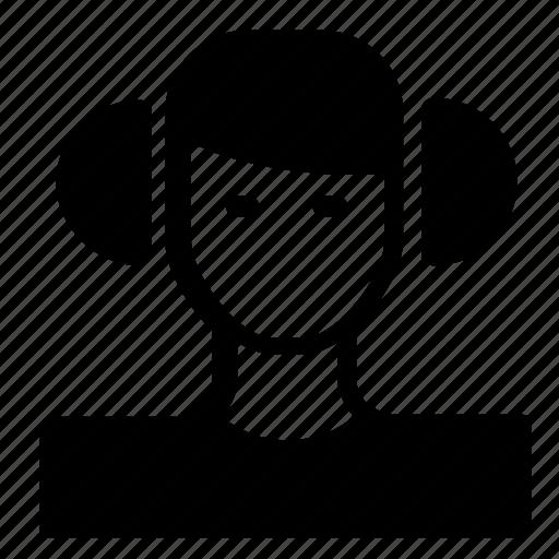 avatar, female, headset icon