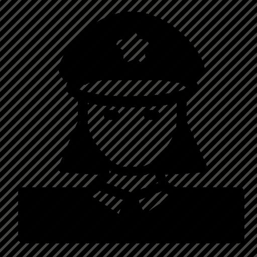 avatar, police, woman icon