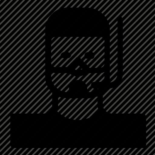 avatar, man, snorkeling icon