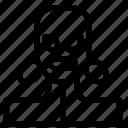avatar, burglar, woman icon