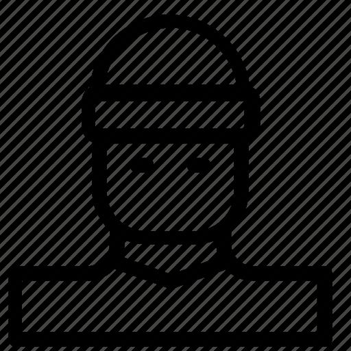 avatar, burglar, man icon