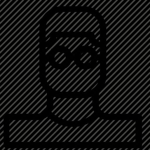 avatar, boy, glasses icon