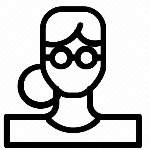 avatar, nerd, woman icon