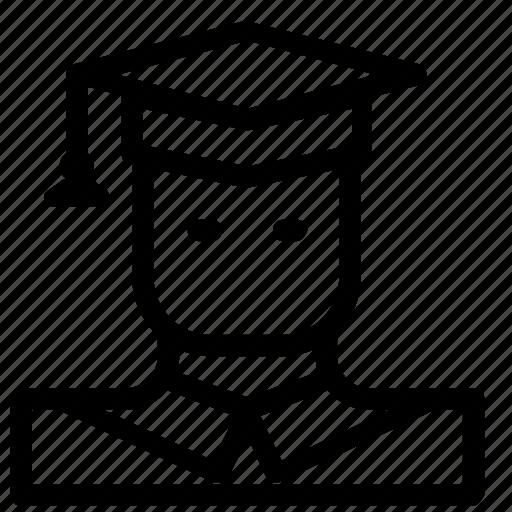 avatar, graduate, man icon