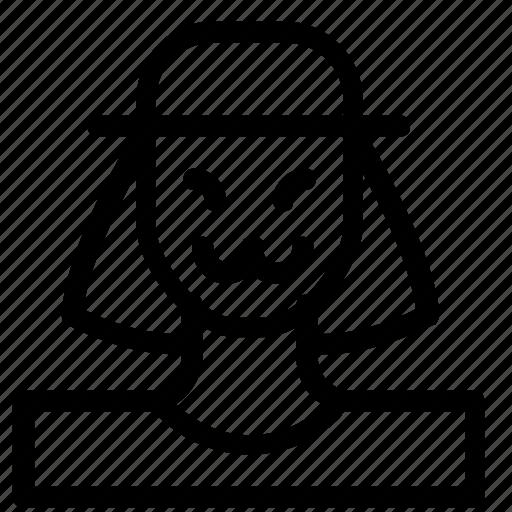 avatar, mask, woman icon