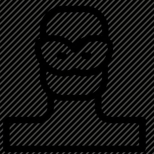 avatar, man, mask icon