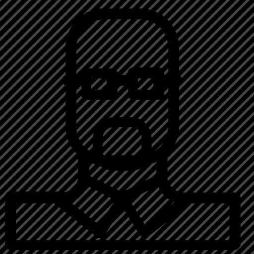 avatar, man, nerd icon