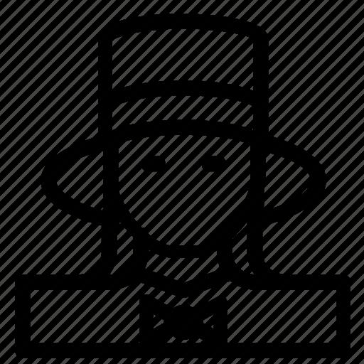 avatar, hat, woman icon