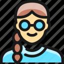 woman, people, glasses