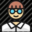 man, people, glasses