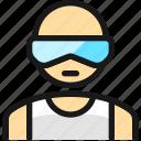 man, glasses, people