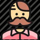 people, moustache, man