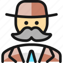 vintage, man, moustache