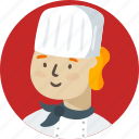 chef, boy, avatar, person, face, user, people