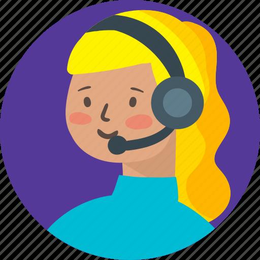 avatar, girl, person, profile, telemarketer, woman icon