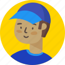 avatar, boy, delivery, man, people, person, profile icon