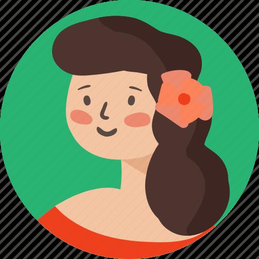 avatar, dancer, female, girl, person, user, woman icon