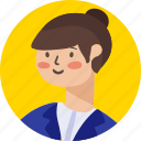 avatar, businesswoman, girl, people, person, woman icon