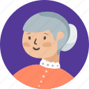 avatar, grand, mother, female, person, profile, woman