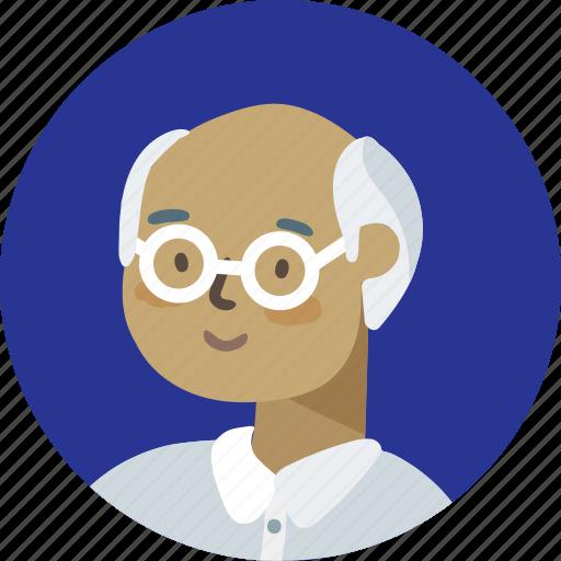 avatar, face, grandfather, man, person, profile icon