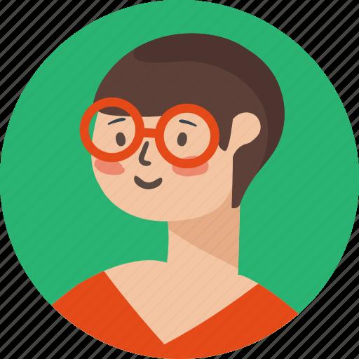 avatar, face, female, girl, male, teacher, user icon